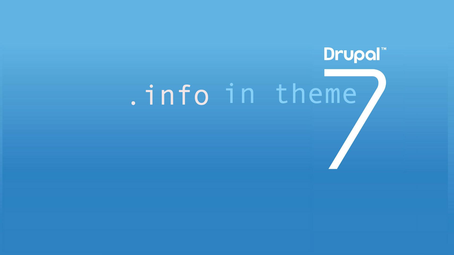 drupal theme info