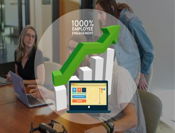Improving employee engagement by 1000% for a Cloud Computing Organization